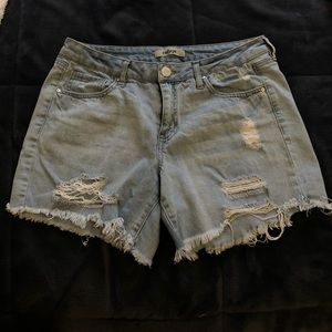 Low Rise , Mid Knee length Jean Shorts